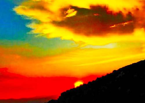 tramonto sul colle