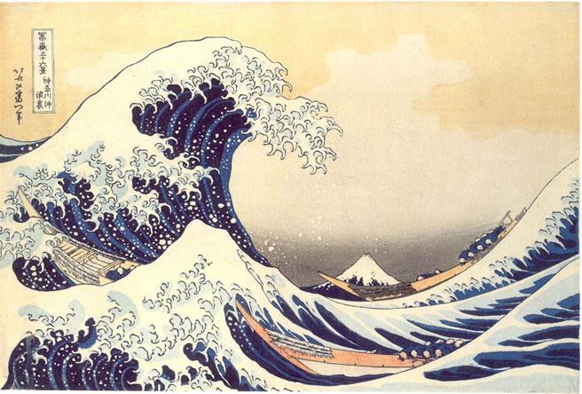 tsunami di Hokusai